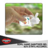 60ml hand sanitiser branded with logo